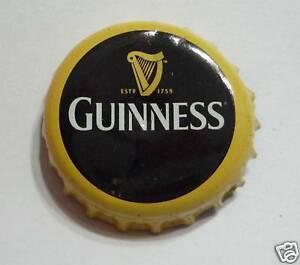 GUINNESS-STOUT-BEER-Bottle-Cap-Crown-Black-Gold-Harp