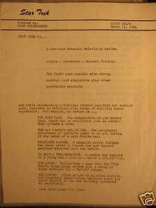 Star-Trek-1964-Original-First-Draft-March-11-1964