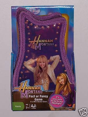 HANNAH MONTANA : FACT OR FANCY GAME IN A MINI GUITAR CASE