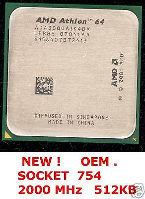 ATHLON 64 3000 +  SOCKET 754  ADA3000AIK4BX  NEW !!!!!! on Rummage
