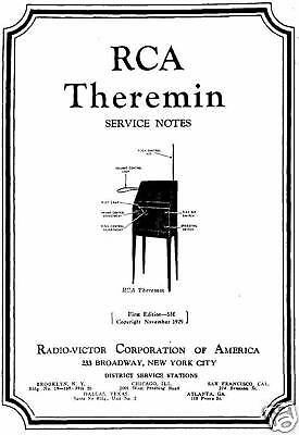 Rca Theremin Users And Service Notes Cdrom Pdf