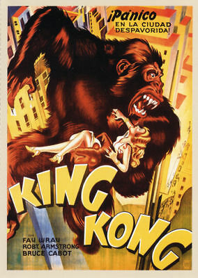 King Kong Fay Wray 1933 Vintage movie poster print 17