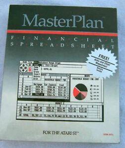 Master plan spreadsheet for atari 520 1040 st nib ebay for 520 plan