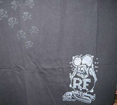 Rat Fink Skull Tracks Black T Shirt S M L Xl Xxl