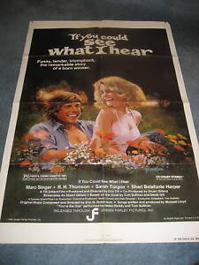 IF YOU COULD SEE WHAT I HEAR(1982)MARC SINGER 1SHEET