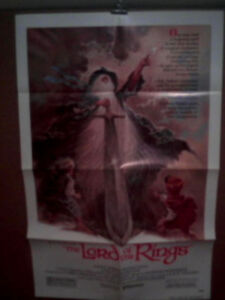 LORD-OF-THE-RINGS-J-R-TOLKIEN-039-S-ANIMATION-1978-N-MINT-ORIGINAL-MOVIE-POSTER