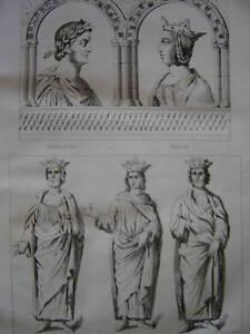 Gravure de Charles Le Gros Richarde Carloman Eudes - France - Période: XIXme et avant - France