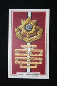 East-Yorkshire-Regiment-World-War-1-1914-18-Battle-Honours-Card-VGC