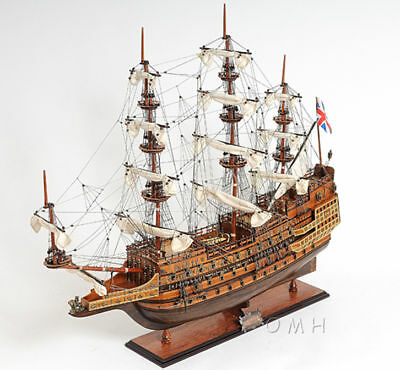 "HMS Sovereign of the Seas 1637 Wooden Tall Ship Model 29"" Built New"