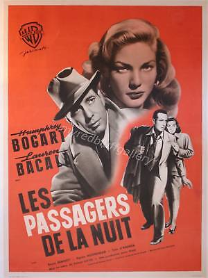 Dark Passage 1947 Humphrey Bogart and Lauren Bacall French Poster