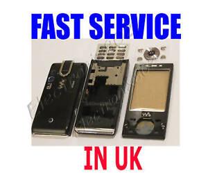 FOR-SONY-ERICSSON-W995i-W995-HOUSING-FASCIA-BATTERY-COVER-KEYPAD-BLACK-NEW-UK