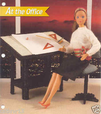 Fashion Doll at The Office Plastic Canvas Pattern
