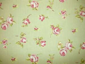 CLARKE-ROSEBUD-SAGE-GREEN-OILCLOTH-PVC-WIPEABLE-FABRIC-VINYL-TABLECLOTH-P-M