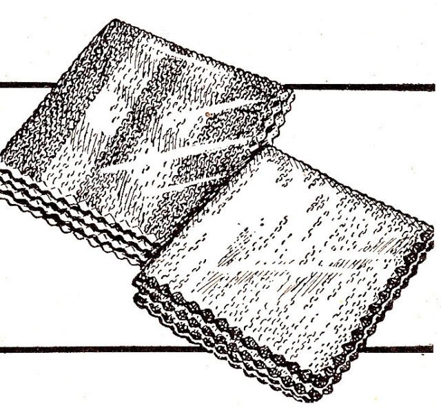 Vintage Knitting Pattern Face Cloth Dish Baby Washcloth Ebay