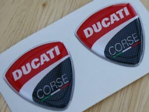 Ducati-Corse-pair-of-3D-Domed-Badges-2010-Style-30mm