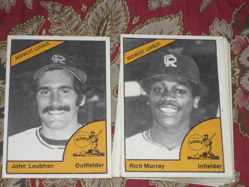1977 TCMA Cedar Rapids Giants w/ rare Laubhan set of 25