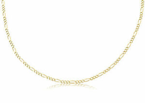 14K-SOLID-YG-FIGARO-LINK-CHAIN-NECKLACE-2-5mm