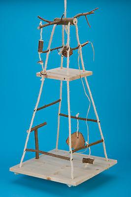 XXL Riesenschaukel mit 2 Etagen, vielen Sitzstangen und Vogelspielzeug
