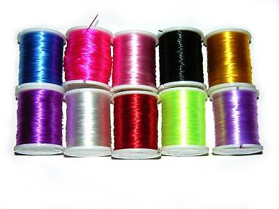 10 Rolls Beading Lot Thread Cord String Stretch Elastic