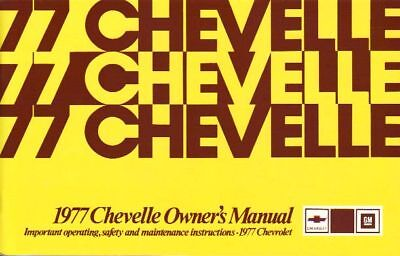 1977 Chevelle Owners Manual