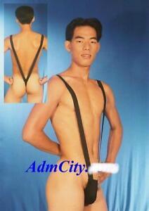 Men-039-s-Unikini-Sexy-Lycra-Bodysuit-V-Front-and-Back-Swimwear-Gymwear