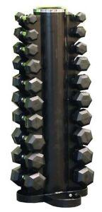 Rubber Hex Dumbbells Pack 1KG - 10KG Set with Dumbbell Rack Fitness Exercise Gym