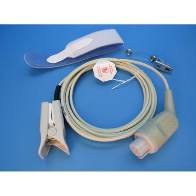 New Datex Ohmeda Adult Reusable Spo2 Pulse Oximeter Finger Sensor 1 Year Waranty