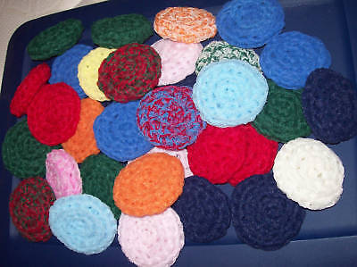 10 Nylon Net Scrubbies -- Assorted Colors - Special Price