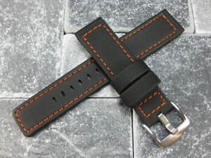 22mm-Rubber-Diver-Strap-Watch-Band-Maratac-Orange-Stitch-for-Planet-Ocean-PO-22