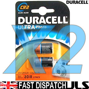 2 x DURACELL 3V LITHIUM CR2 Ultra Photo Batteries DLCR2
