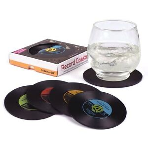 GAMA-GO Hot Hits Record Coasters set of 4 Fab Gift Idea