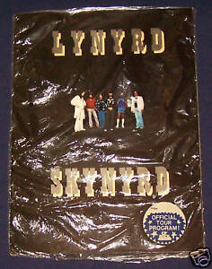 LYNYRD SKYNYRD 1977 Street Survivors Tour Book Program SEALED MINT