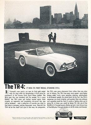 1962 Triumph TR4 TR-4 CityView Vintage Advertisement Ad