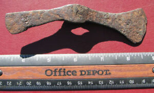 Ancient-VIKING-Iron-Artifact-Double-Axe-Head-RARE-Y13