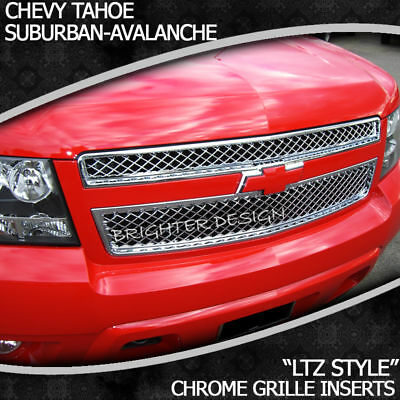 Ltz Chrome Grille Overlay Tahoe Avalanche Suburban 07-13 on Sale