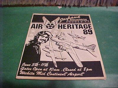 1989 Program Jayhawk Squadron Conf Af Air Heritage 89