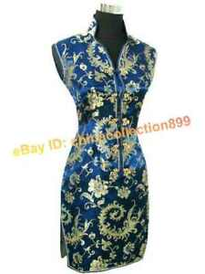 Retro-Women-Mini-Silk-Cheongsam-Evening-Party-Dress-Sleeveless-WMD-03