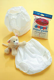 2 Dappi Nylon Diaper Pants,pullups,waterproof, Ripproof