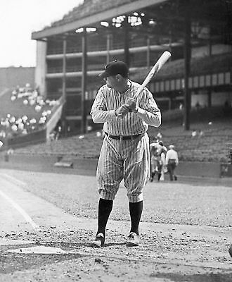 Legendary Babe Ruth At Bat Yankees 8X10