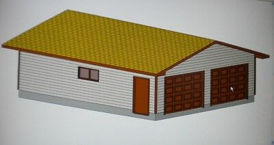 24 39 x 28 39 garage shop plans materials list blueprints ebay for Material list for garage