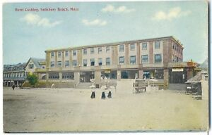 Image Is Loading Salisbury Beach Ma Hotel Cushing On Postcard