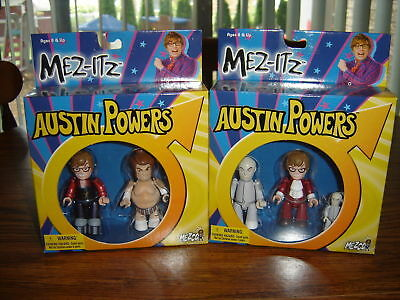 Set Of 2 Austin Powers Mezco Mez-itz Sets – Brand