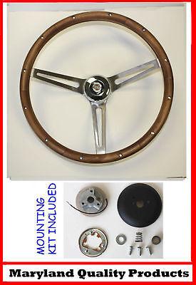 1967 Chrysler 300 Yorker Grant Wood Steering Wheel 15 Walnut