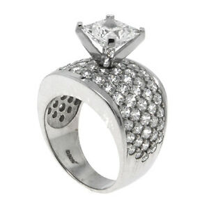 STERLING-SILVER-SQUARE-CZ-ACCENT-WEDDING-RING-101SQ