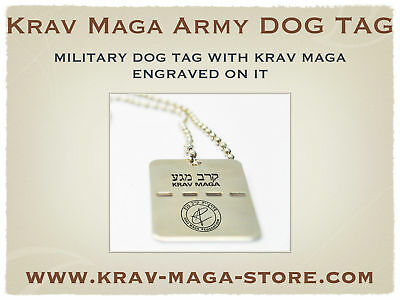 Israeli Army Dog Tag Krav Maga Engraved On It, Limited
