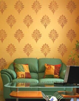 Tali's Brocade Damask Stencil - Small - Reusable Stencils For Walls And Crafts