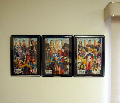 bcw comic book showcase framed display case hangs on wall current size ebay. Black Bedroom Furniture Sets. Home Design Ideas