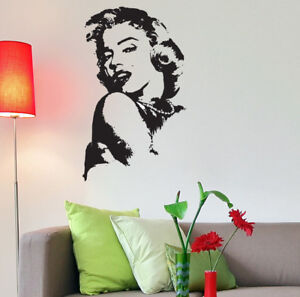 Vinyl Decal Wall Art Marilyn Monroe Large