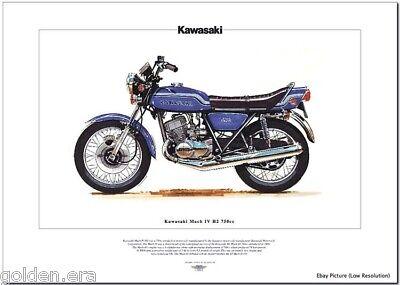 KAWASAKI Mach IV H2 750 - Motorbike Fine Art Print 1969