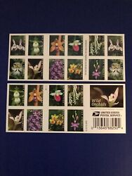 Us Wild Orchids Forever Booklet (20 Stamps) Mnh (2020)